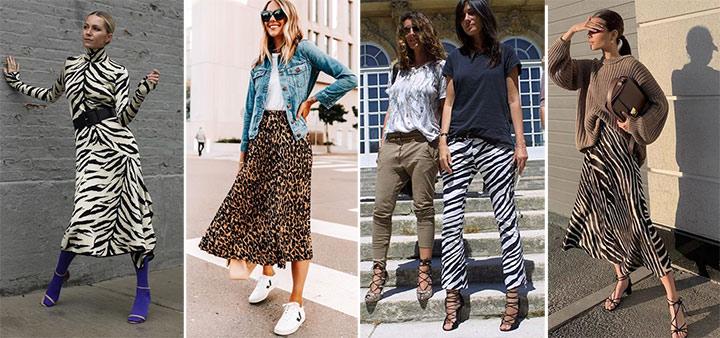 Тигровый и змеиный принты на уличных модницах