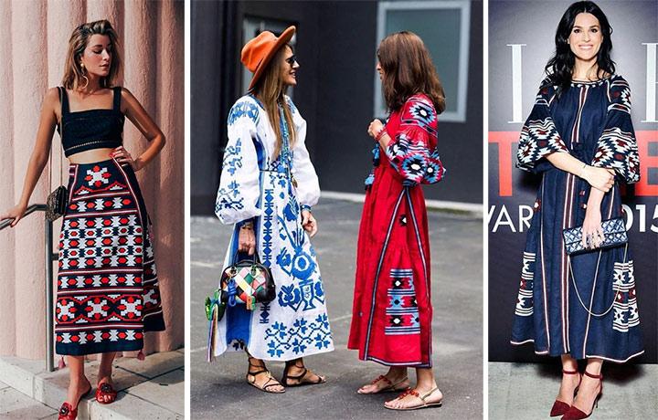 Юбка и платья в этническом стиле