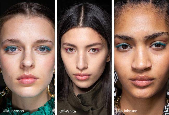 Разноцветная тушь для модного макияжа осень-зима 2020-2021