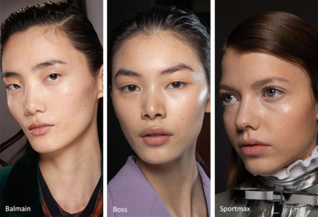 Сияющий натуральный макияж - тренды зимы 2021