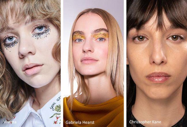 Легкий макияж с блестками - модный мейкап 2020