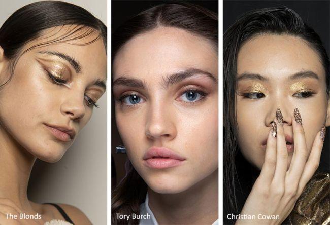 Золотые тени и максимально естественный макияж
