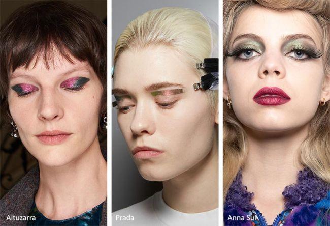 Холодные оттенки теней для модного макияжа