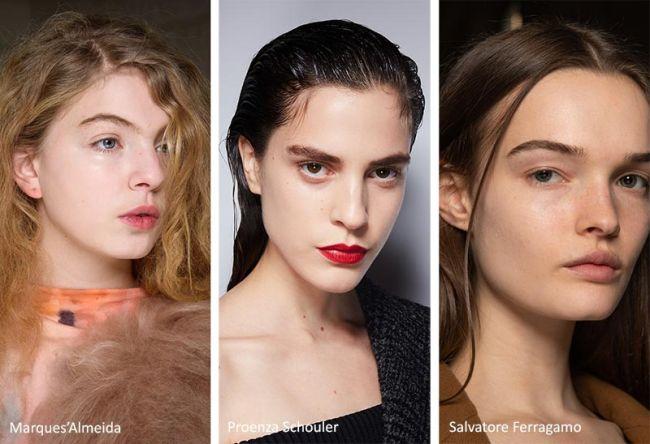 Максимально естественный цвет лица - модный макияж осень 2020
