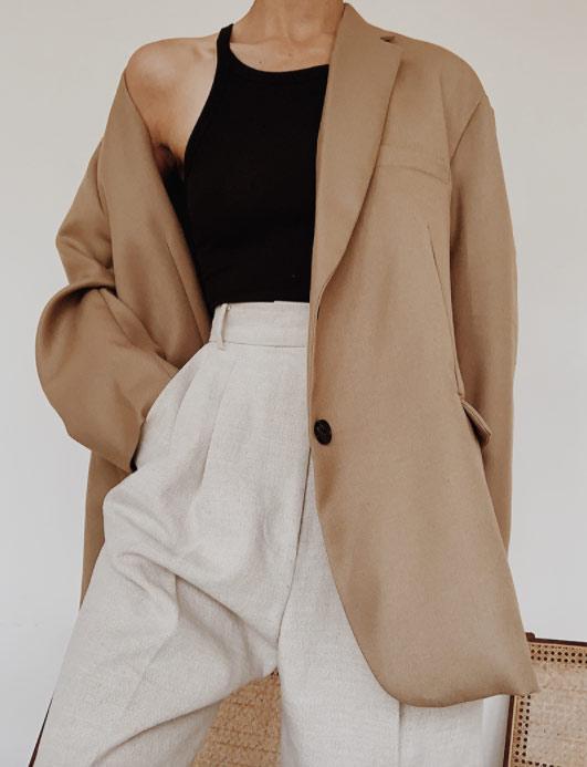 Удлиненный жакет + брюки с защипами