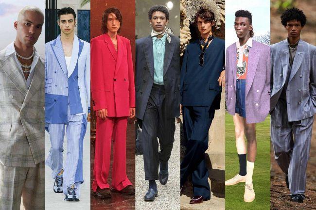 Мужские костюмы в стиле 80-х годов - модный весенний тренд