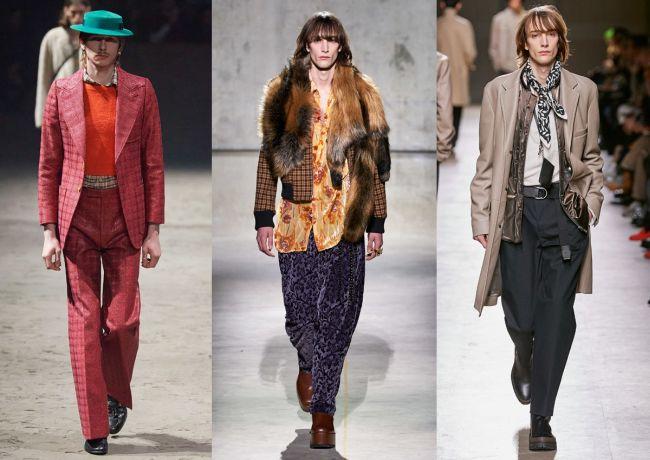 Тренд мужской моды - образы 70-х