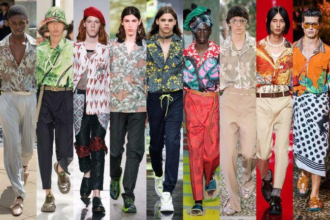 Яркие разноцветные рубашки - тренды мужской моды лето 2021