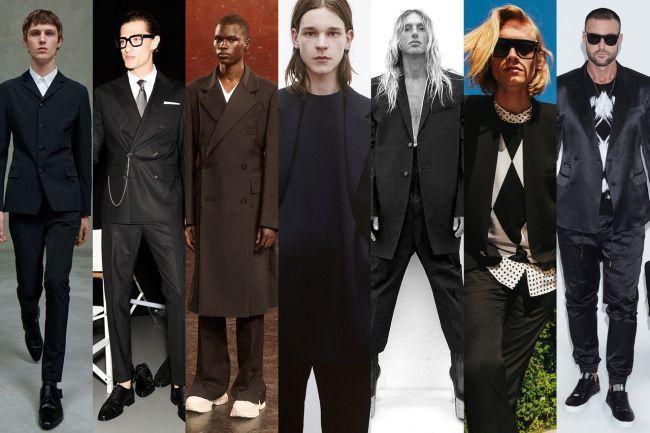 Черный мужской костюм - главный тренд в мужской моде весна 2021
