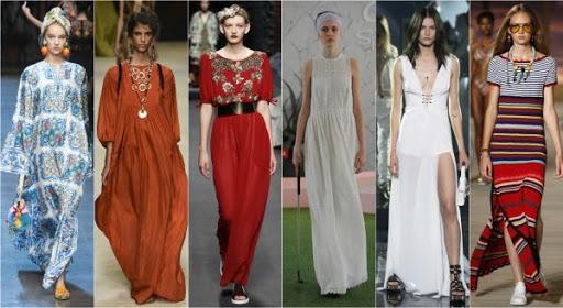 Длинные платья в коллекциях дизайнеров