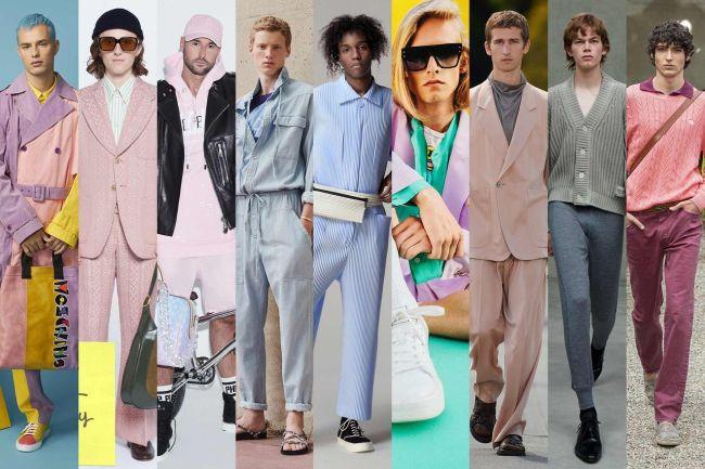 Пастельные оттенки в мужских образах весна-лето 2021