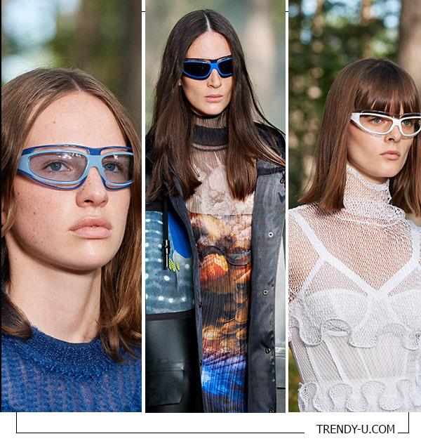 Солнцезащитные очки из коллекции Burberry весна-лето 2021