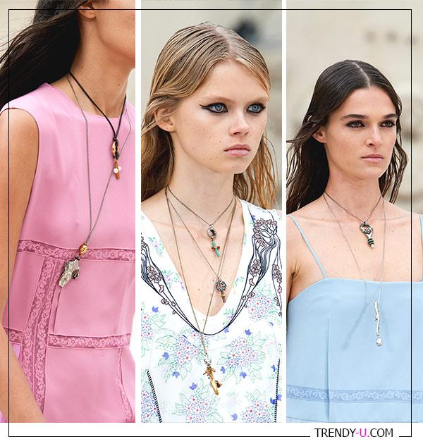 Деликатные цепочки к платьям и сарафанам Chloe