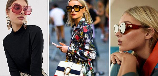 Городские модницы в солнечных очках. Новинки и образы для весны 2021