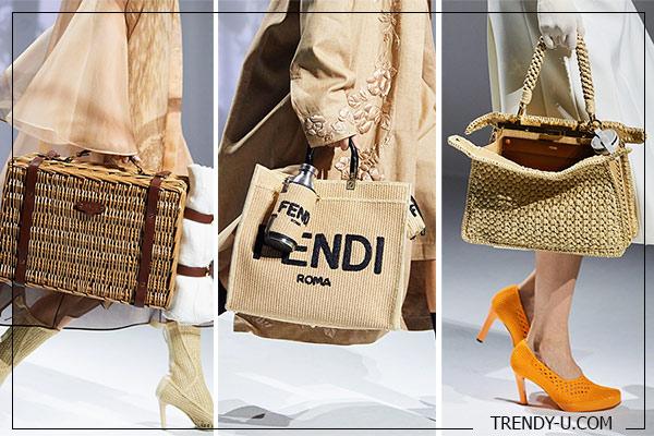 Плетеные сумки Fendi весна-лето 2021
