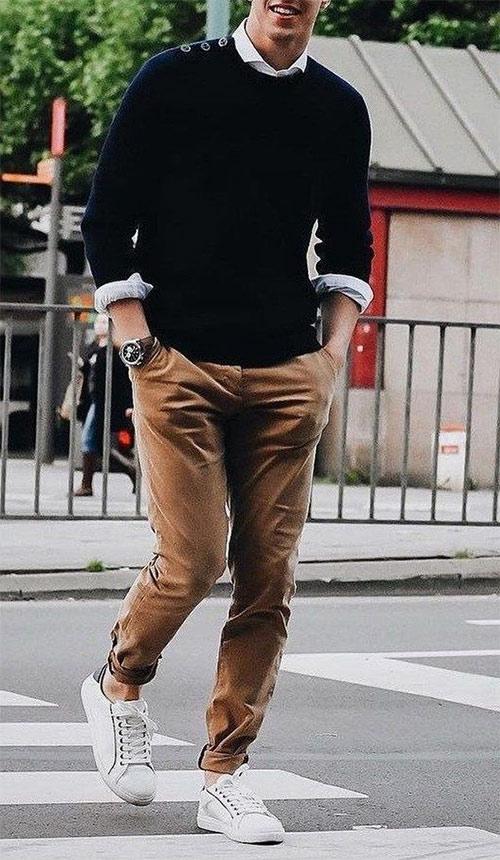Мужские брюки чиносы