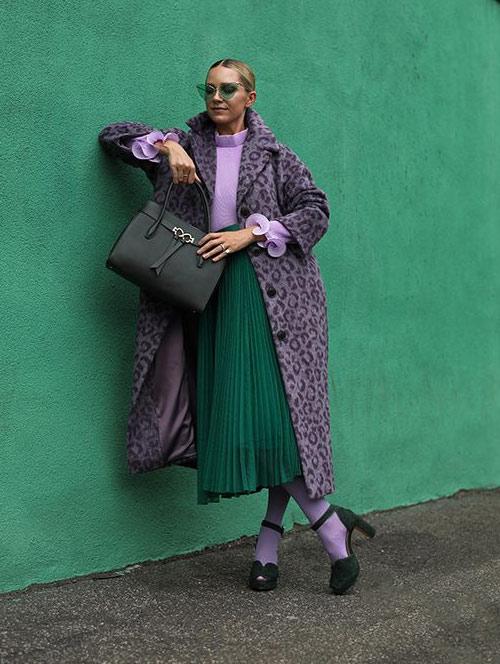 Колготы в тон пальто. Образ от Kate Spade
