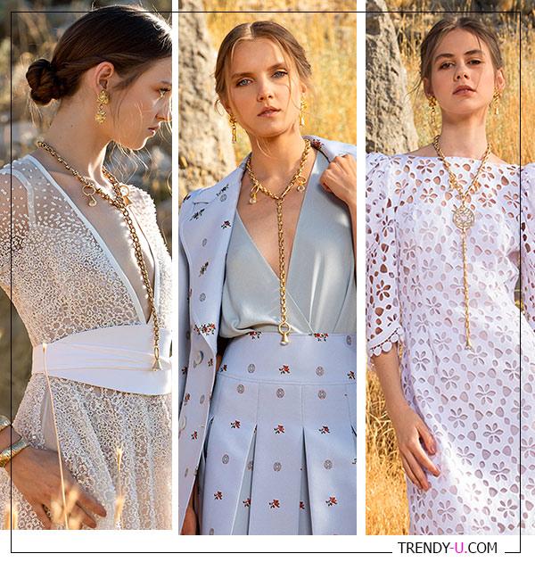 Цепи к платьям в стиле смарт кэжуал из коллекции Elie Saab