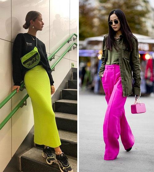 Что носить с одеждой неоновых цветов: аксессуары!