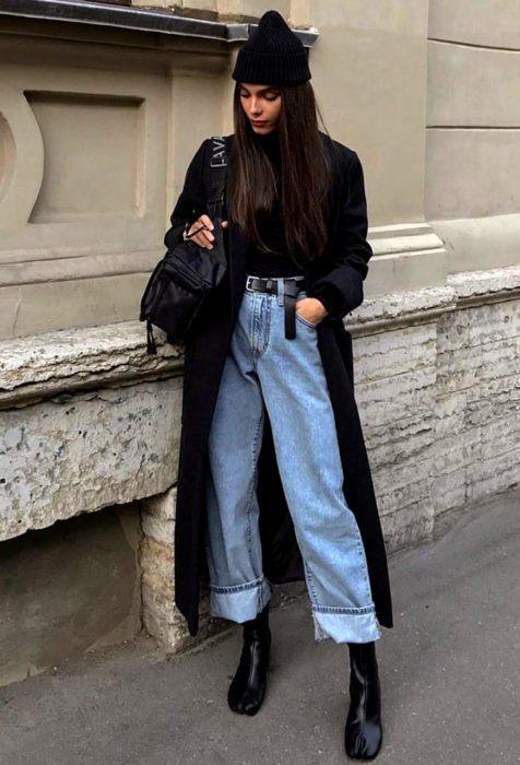 Пояс на джинсах с высокой талией
