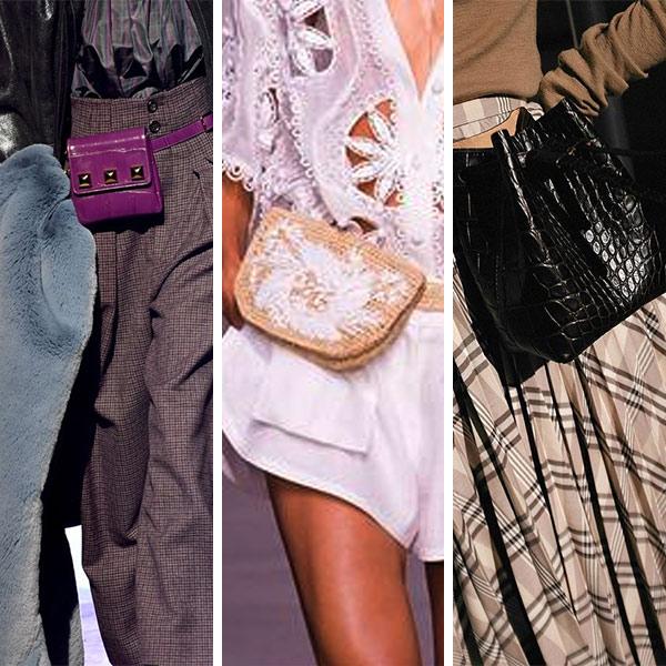 Поясные сумки - маст весны. Подиумные варианты