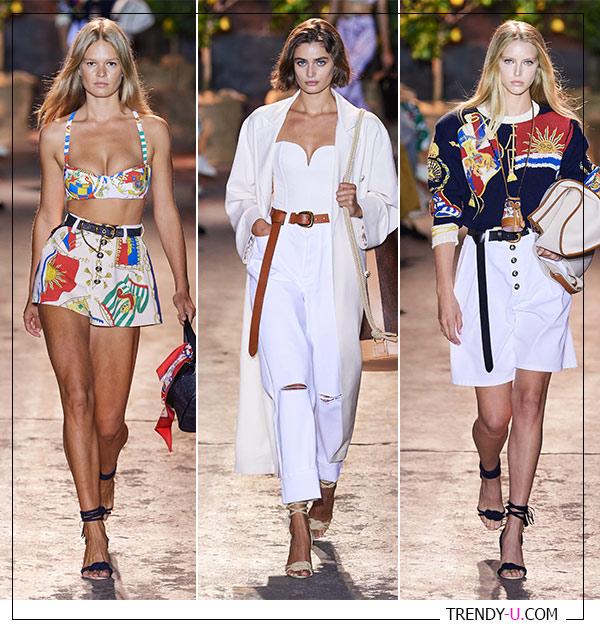 Ремни на одежде в коллекции Etro весна-лето 2021