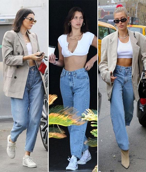 Mom-jeans на городских модницах