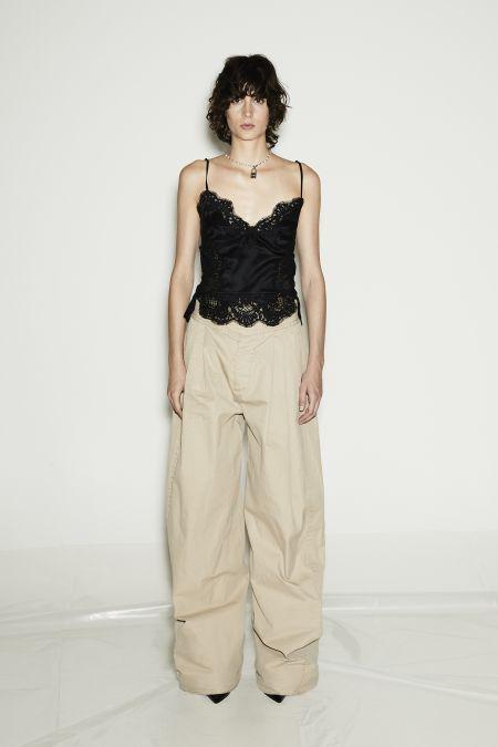 Бежевые брюки оверсайз Dsquared2