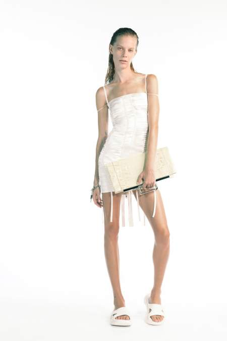 Белые резиновые тапочки Givenchy