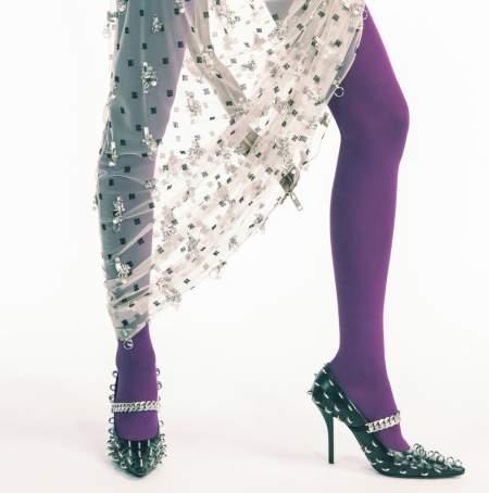 Черные туфли с цепью и металлическими кольцами Givenchy