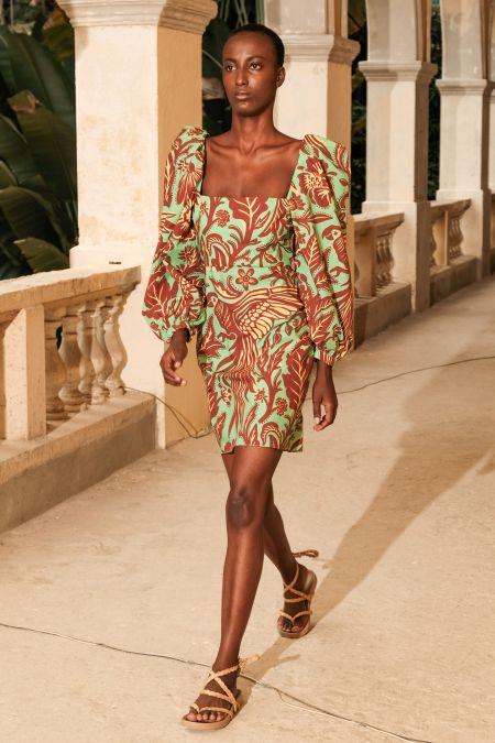 Платье Johanna Ortiz с объемными рукавами