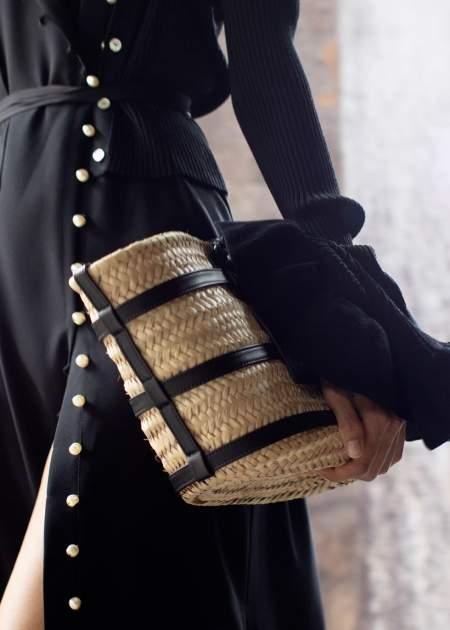 Плетеная сумка с кожаными ремнями Altuzarra
