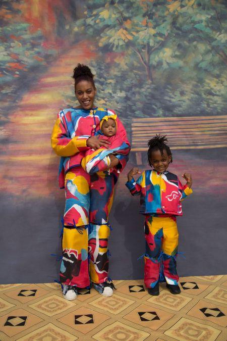 Яркий разноцветный Family Look
