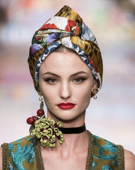 Макияж с красной помадой из коллекции Dolce & Gabbana