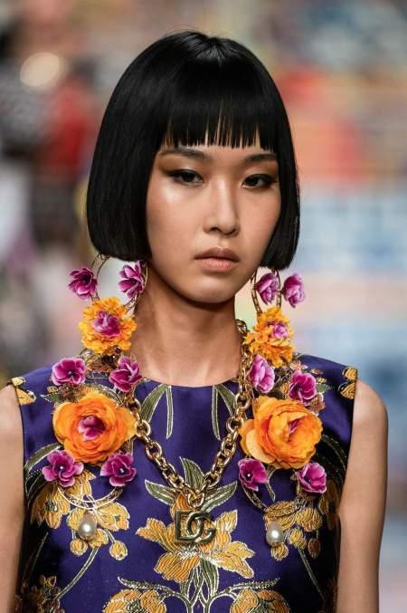 Серьги с крупными цветами Dolce & Gabbana