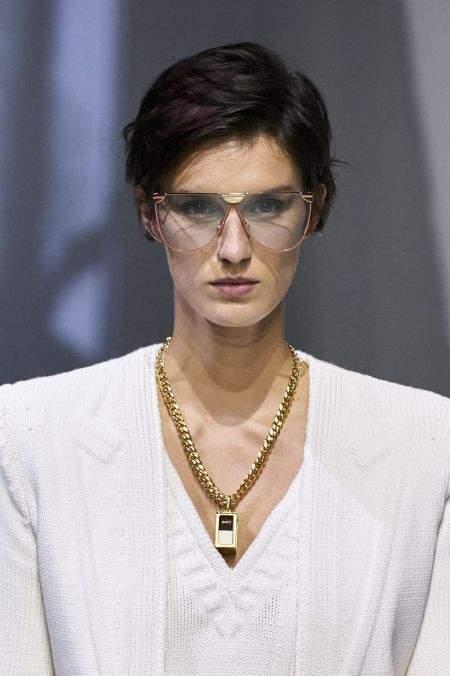 Длинная цепь с подвеской из коллекции Fendi