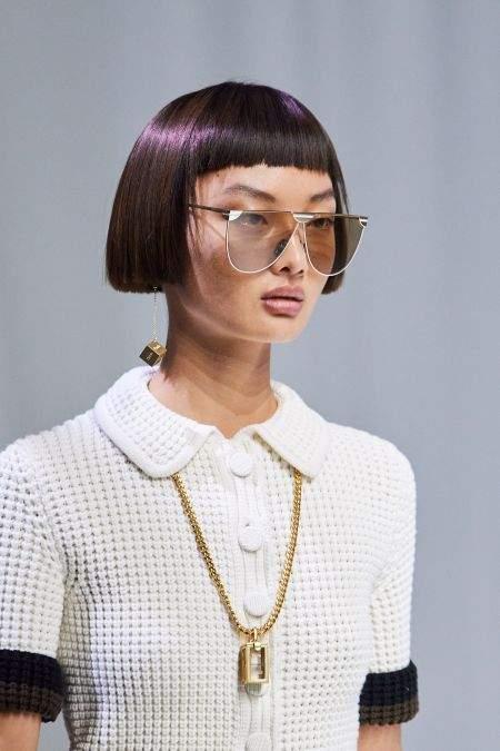 Геометрические украшения в коллекции Fendi