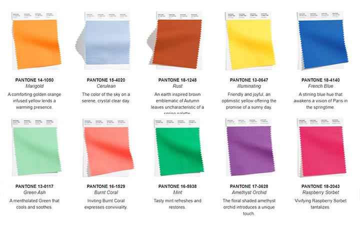 Модные цвета весна-лето 2021 (Нью-Йорк) по Pantone