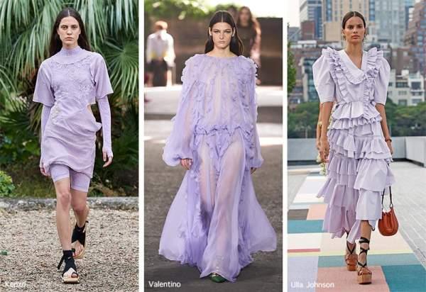 Платья в нежно-фиолетовом цвете