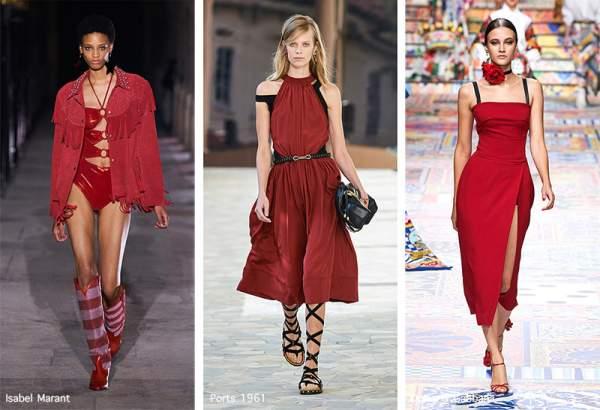 Модный оттенок красного Lava Falls Red