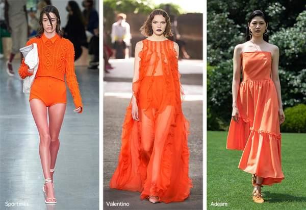 Яркий оранжевый - трендовый цвет 2021
