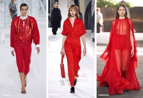 Яркий красный цвет будет в моде весной 2021