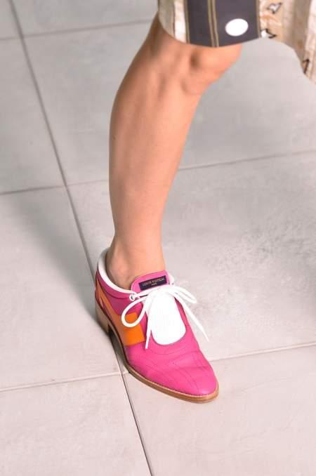 Розовые туфли-кеды Louis Vuitton