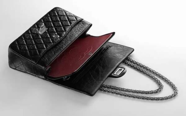 Сумка Chanel 2.55 изнутри
