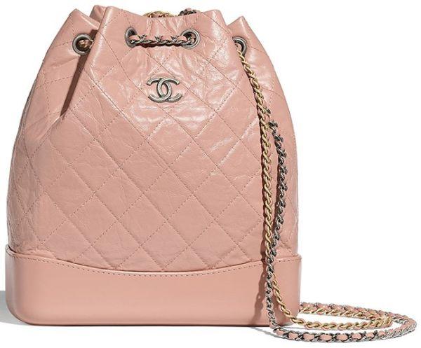 Розовый стеганый рюкзак Chanel Gabrielle