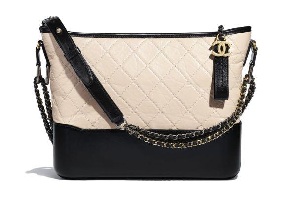 Двухцветная сумка-хобо Chanel
