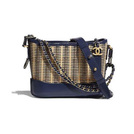 Синяя сумка Chanel Gabrielle Hobo