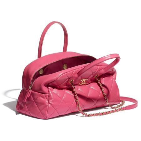 Розовая сумка Chanel  Bowling