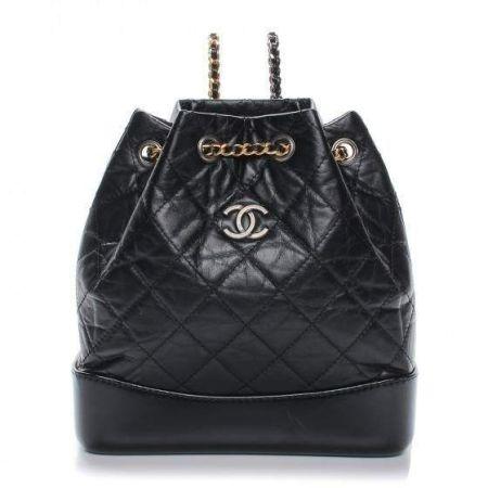 Небольшой черный рюкзак Chanel серии Gabrielle