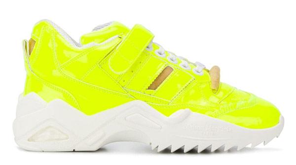 Женские кроссовки Maison Margiela весна-лето 2021 желтого цвета
